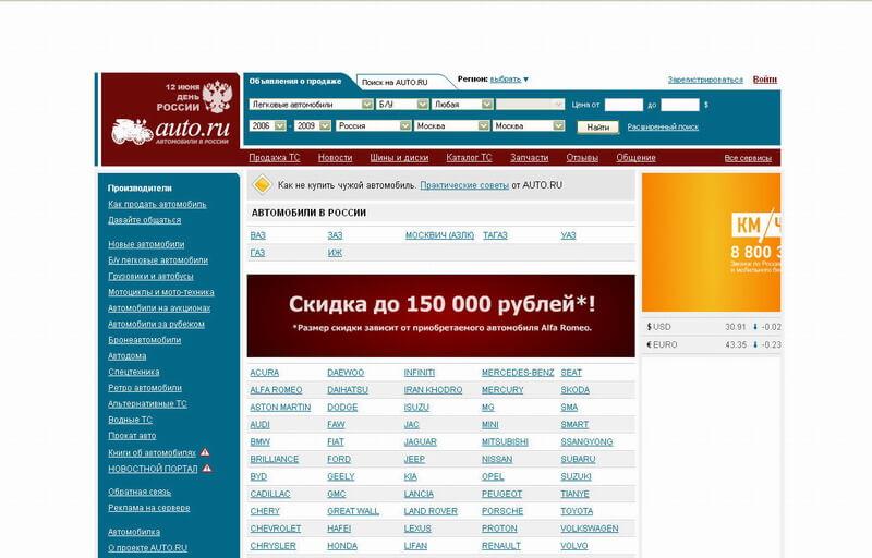 авто сайт ру: